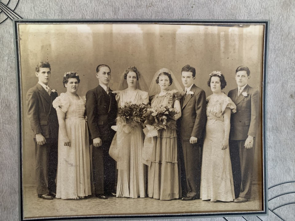 A Wedding photograph of the writers Memere and Pepere and their wedding day, 1936