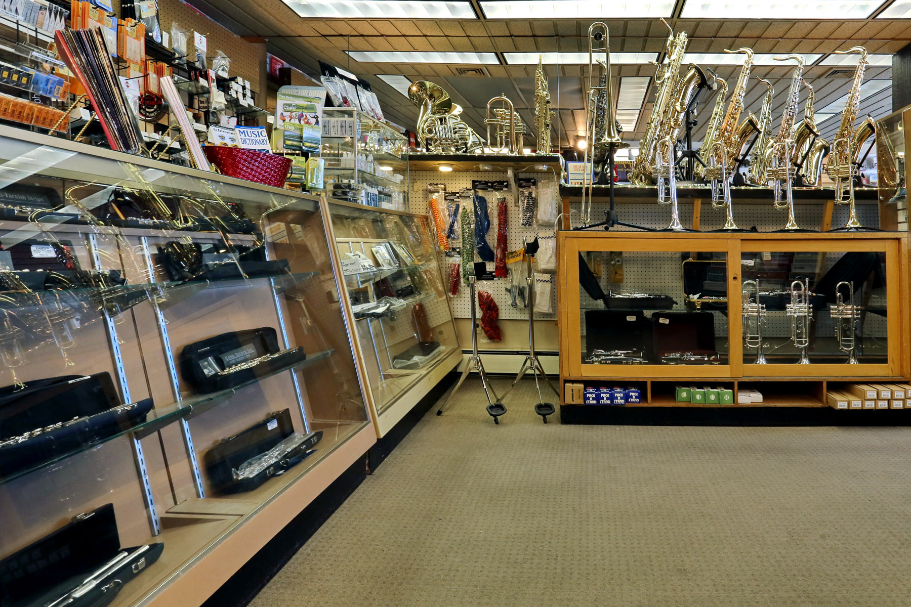 Interior shot of a music store