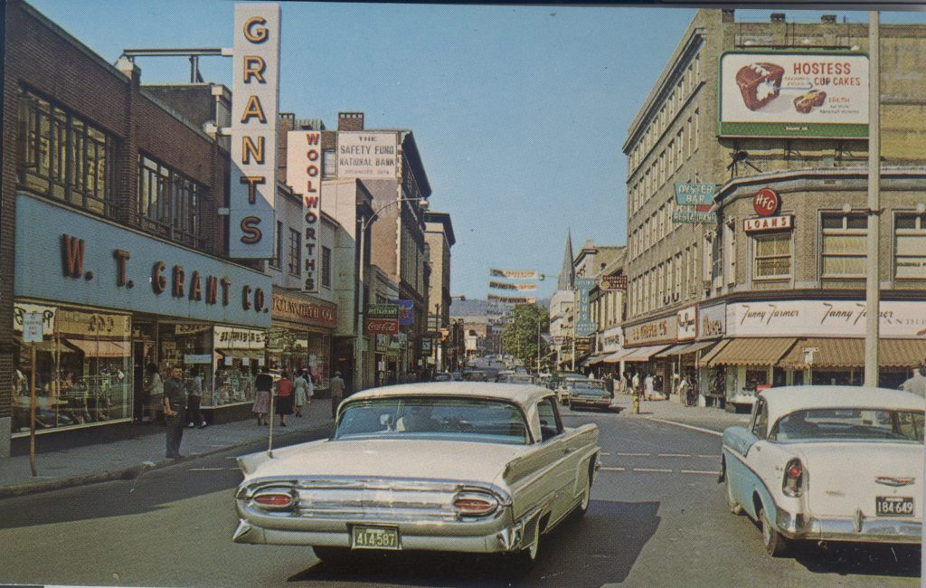 Historic View of Downtown Fitchburg, MA circa 1960