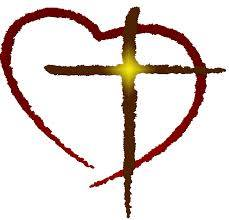 The Coalition Symbol, a sun-drenched cross slightly off centered in a red traced heart