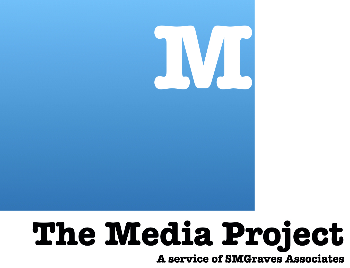 The Media Project Logo in Blue