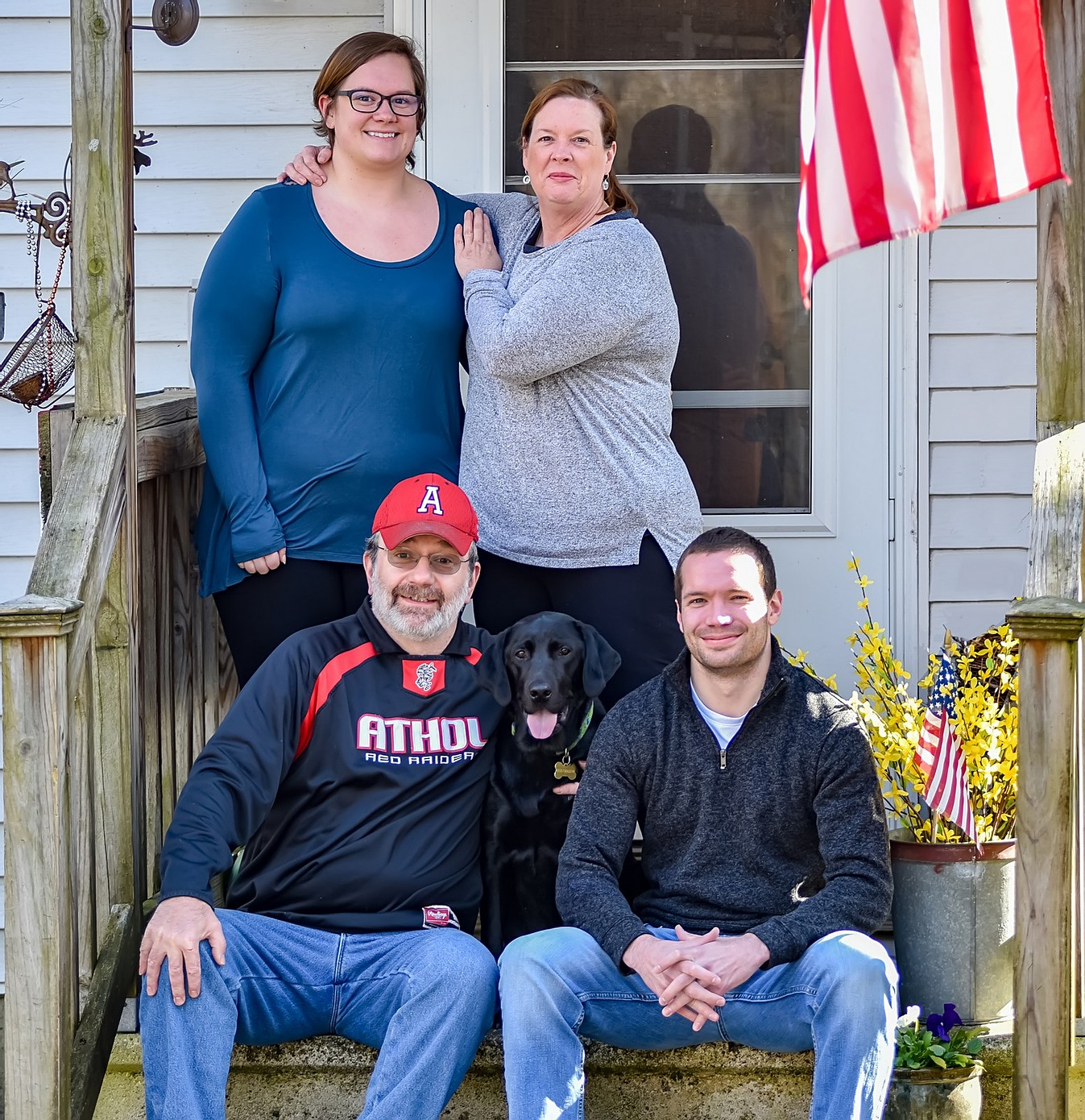 The LaRose Family of Athol, MA on their front porch