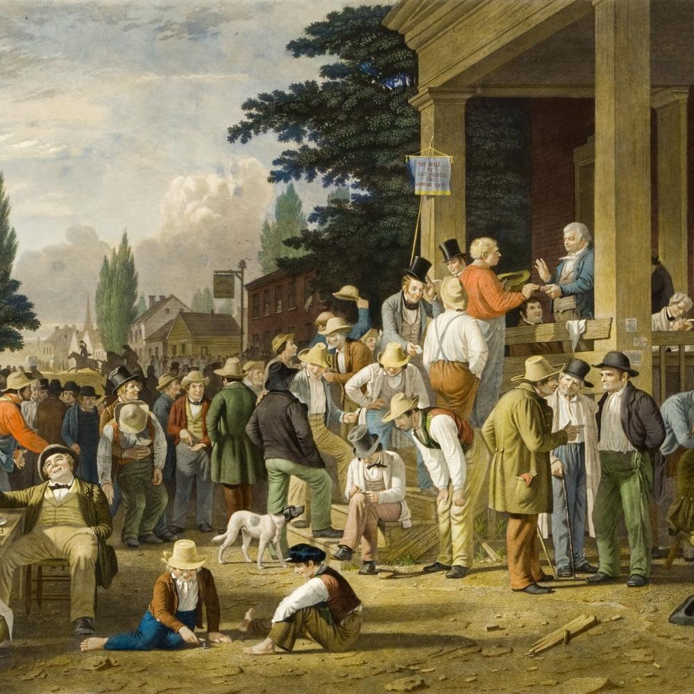 Photograph of the famous election painting from 19th century artist John Bingham