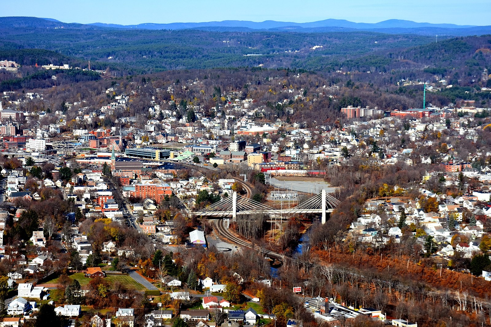 Panoramic View of Fitchburg, MA