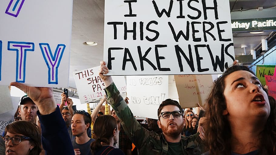 Public Domain Image of Recent US Political Protest