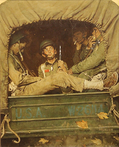 Image of Norman Rockwell's 1943: 'Willy Gillis in Convoy'