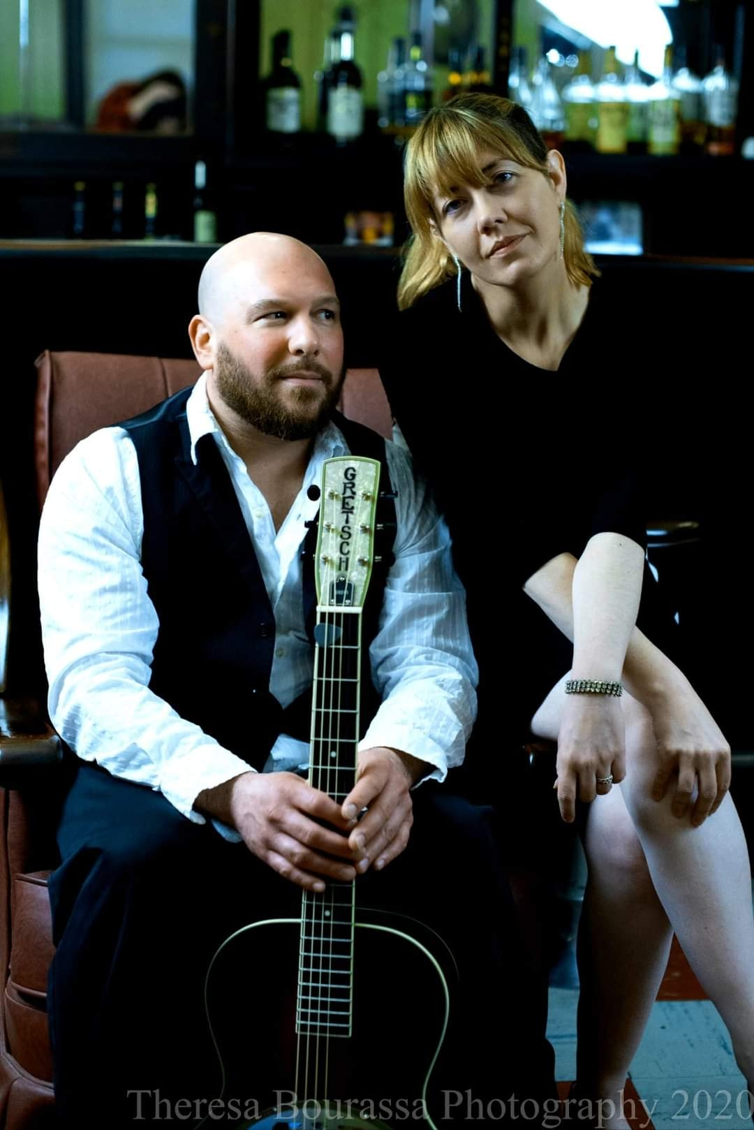 Promotional Shot of Brian Chaffee & Sarah Clarke in full color, better known as pop duo Undertoe