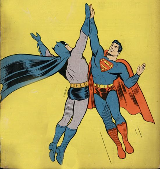 Circa 1960's Batman/Superman Imagery