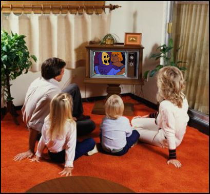 Let's all sit around the Boob Tube and Veg on some Saturday Morning Cartoons!